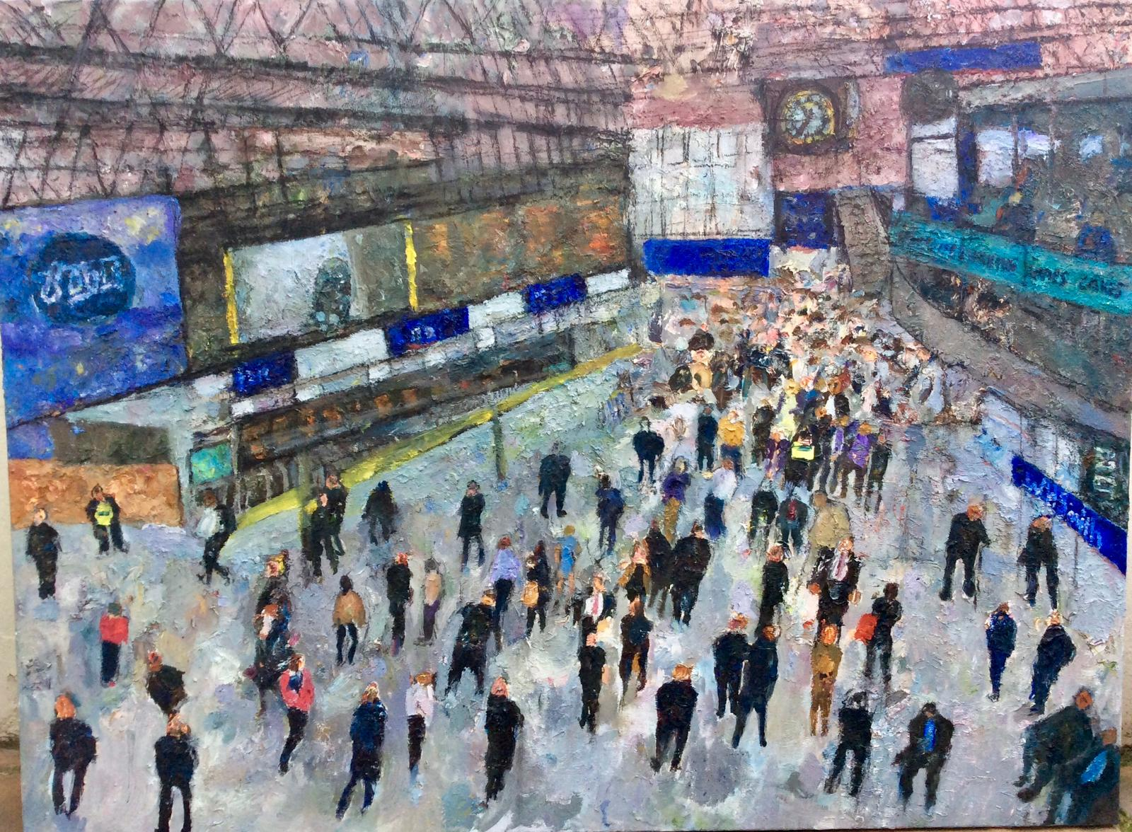 24. Waterloo Station, oil on canvas, 90x120 cm