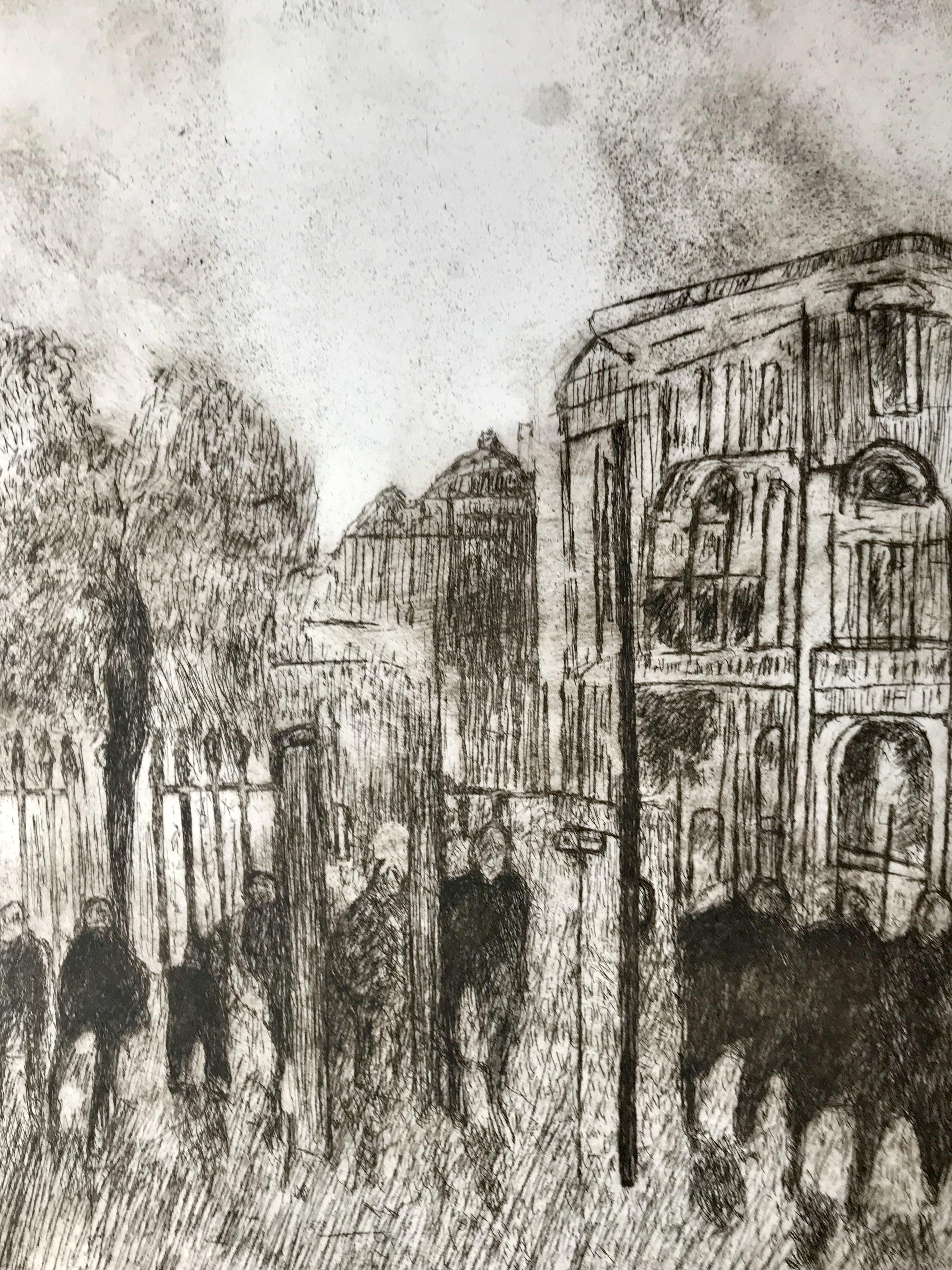 Wandering, etching