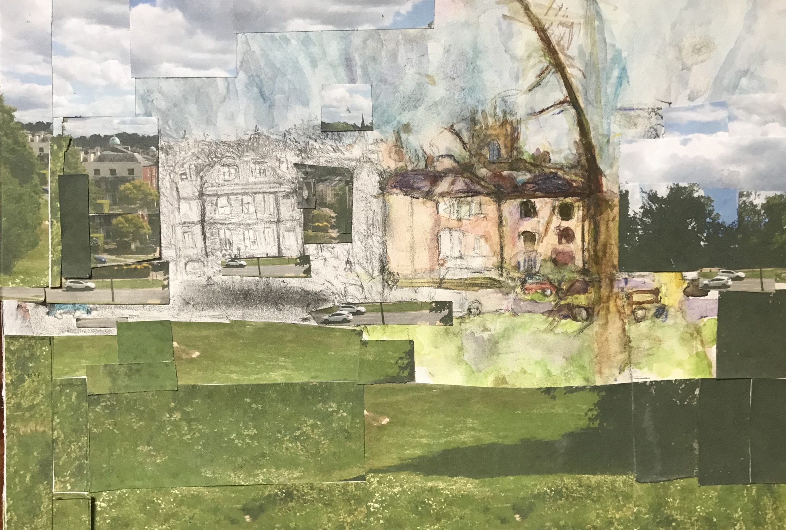 mixed media image of Tunbridge Wells common