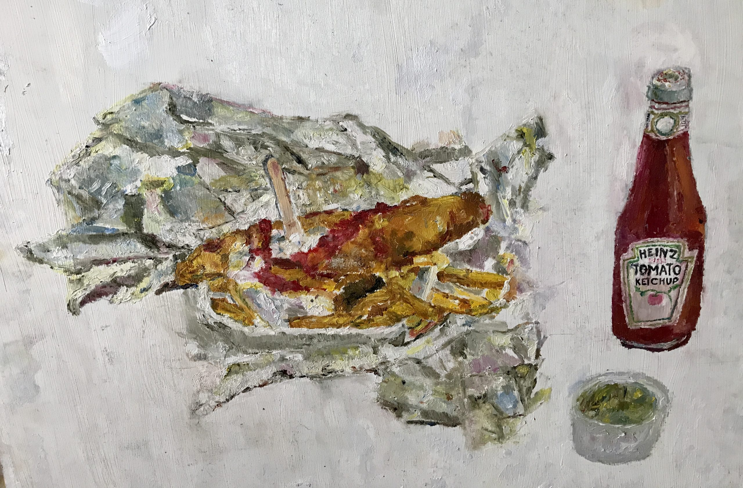 fish and chips painting